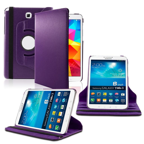 Samsung Galaxy Tab A 8.0 / T350 / T355 360 Rotating Leather Cover Purple