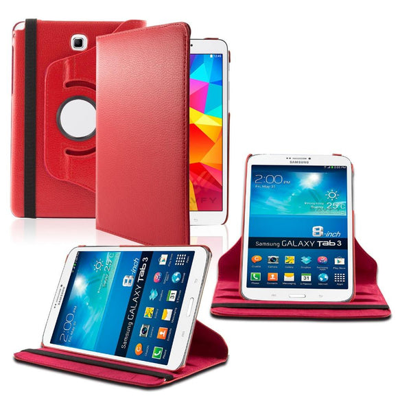 Samsung Galaxy Tab A 8.0 / T350 / T355 360 Rotating Leather Cover Red