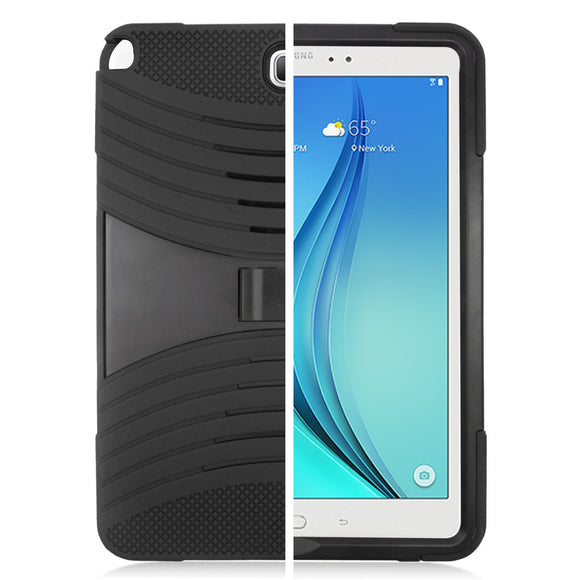 Samsung Galaxy Tab A 9.7 / T550 Hybrid Silicone Case Cover Stand Black