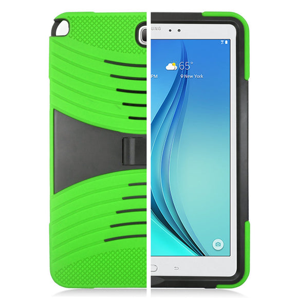 Samsung Galaxy Tab A 9.7 / T550 Hybrid Silicone Case Cover Stand Green