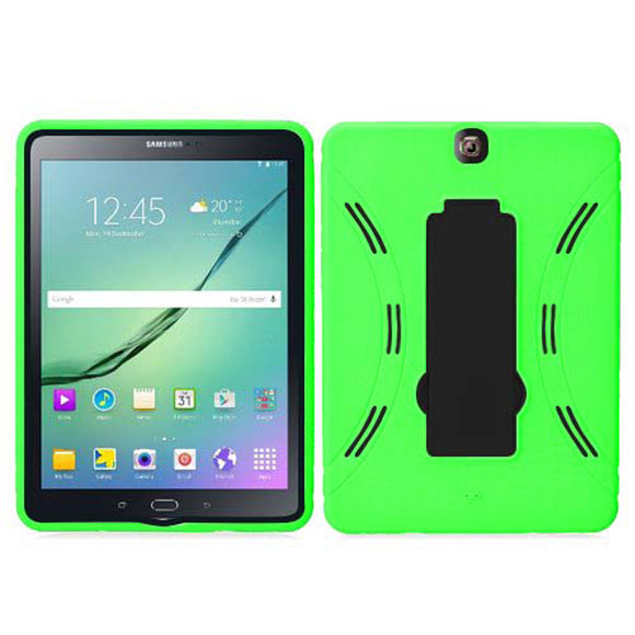 Samsung Galaxy Tab S2 9.7 Hybrid Silicone Case Cover Stand Green