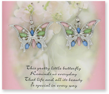 Monarch Minis Butterfly Earrings Case Pack 24