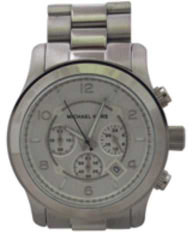Michael Kors - MK8086 Runway Oversized Silver-Tone Watch (1 Pc)