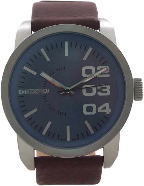 Diesel - DZ1512 Blue Dial Brown Leather Strap Watch