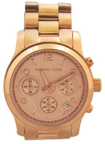 Michael Kors - MK5128 Rose Gold-Tone Chronograph Runway Watch (1 Pc)