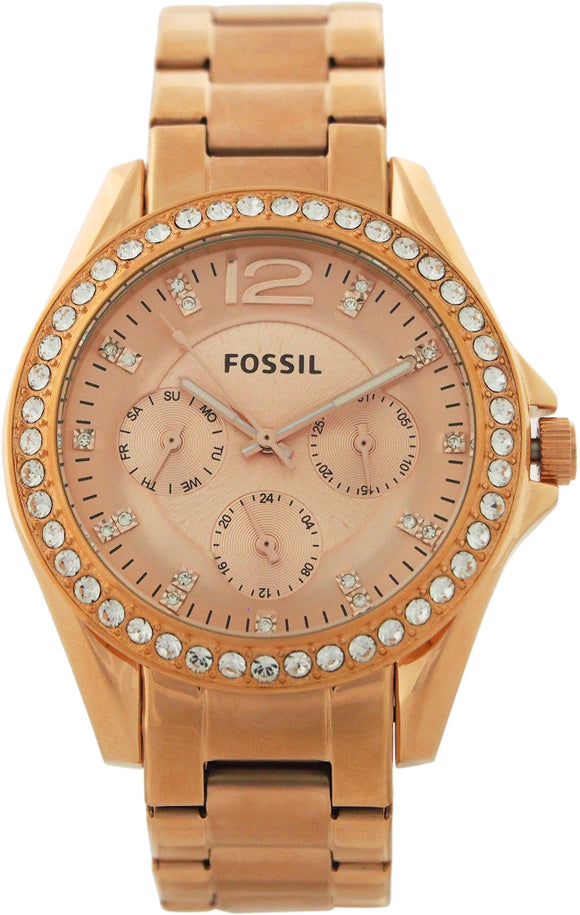 Fossil - ES2811P Riley Multifunction Rose-Tone Stainless