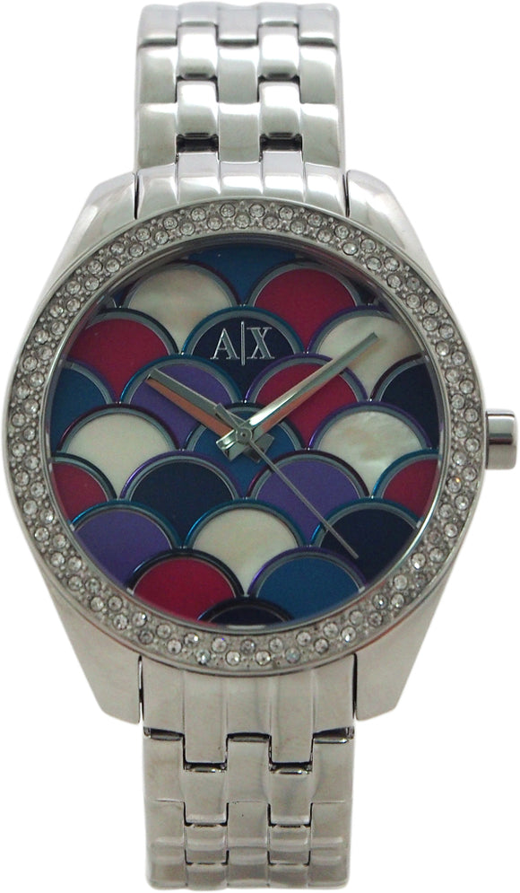 Armani Exchange - AX5526 Multi-Colored Mosaic Dial Stainless Steel