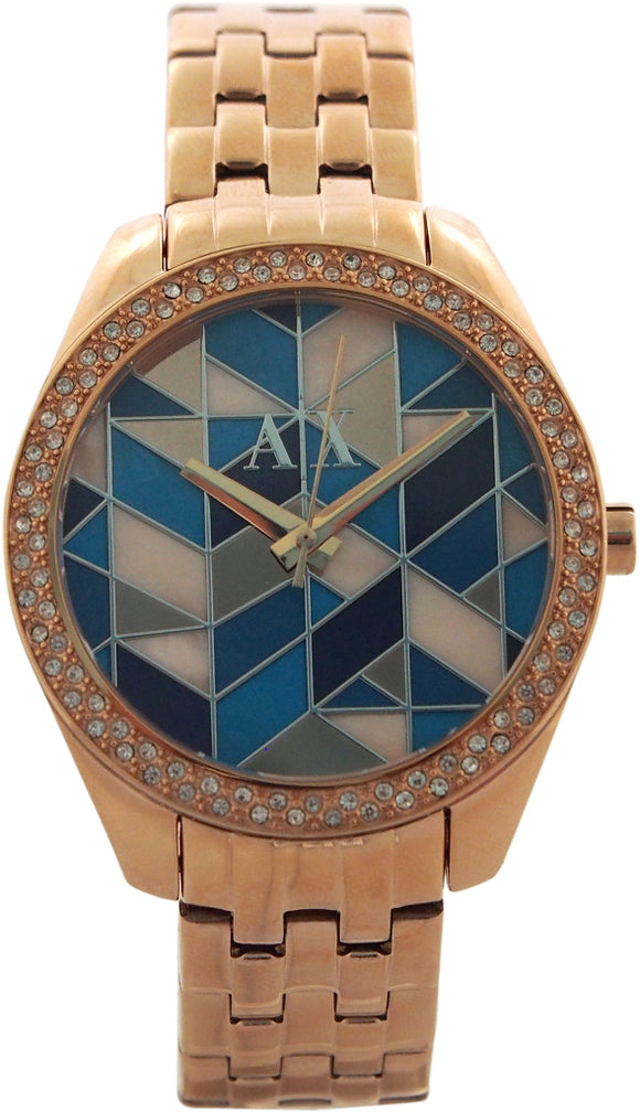 Armani Exchange - AX5528 Multi-Colored Mosaic Dial Rose Gold