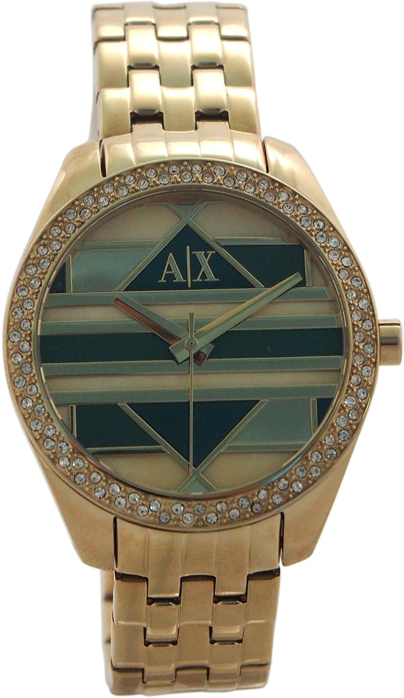 Armani Exchange - AX5527 Geo Gold-Tone Stainless Steel Watch