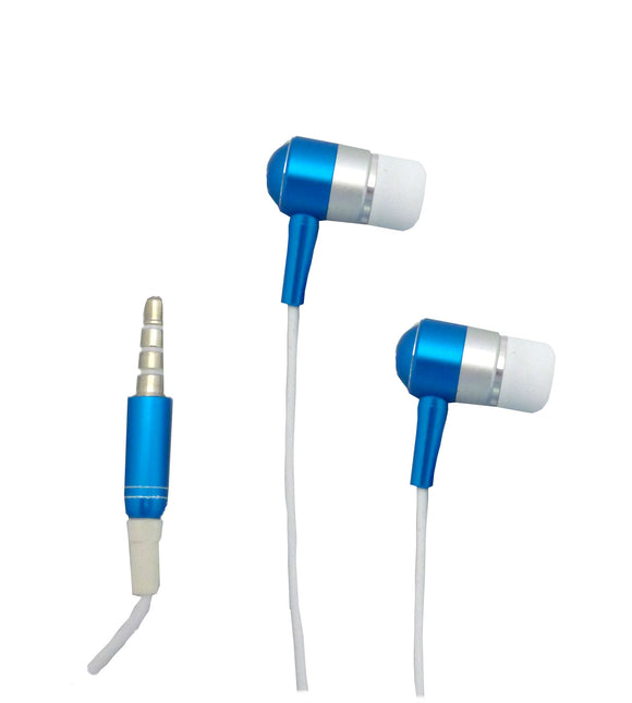 Snow Fire Shred phones iPhone / iPod replacement stereo headset with Mic / headphones - Blue