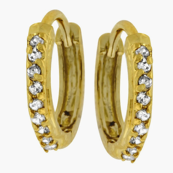 Classic Tiny Hoop Earrings Goldtone Finish