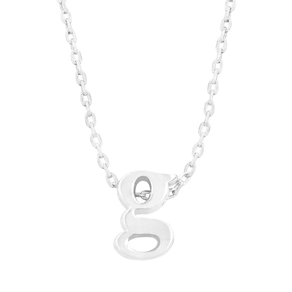 Silver Tone Finish Initial G Pendant