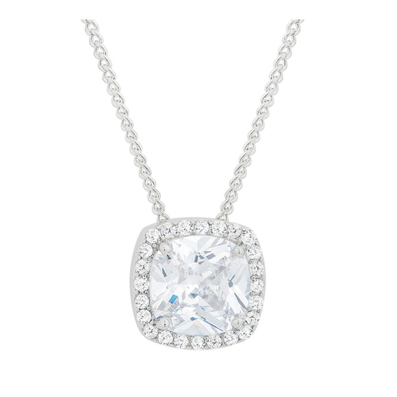 J Goodin Cubic Zirconia Classic Style Pave Halo Pendant For Women