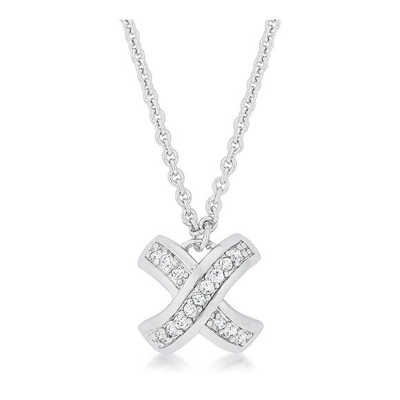 J Goodin Cubic Zirconia Classic Style Timeless Pave Pendant For Women
