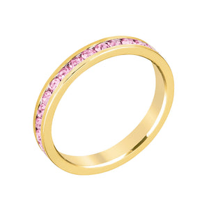 Stylish Stackables Pink Gold Ring Size 9