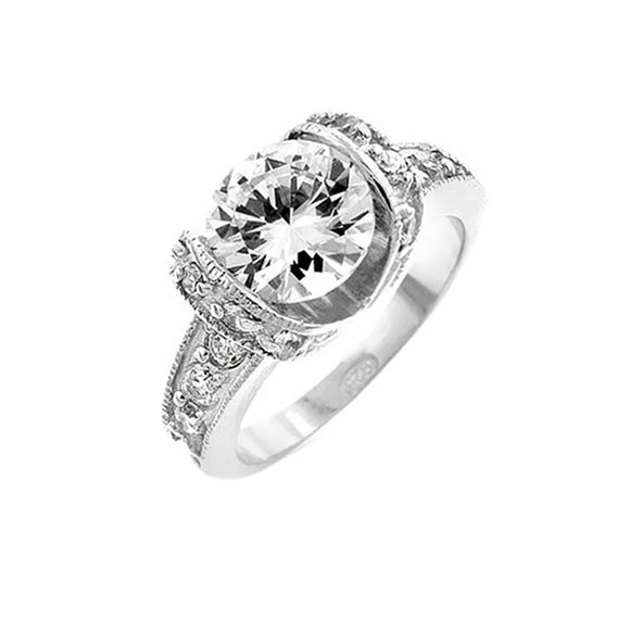 Tension Set Engagement Ring Size 6