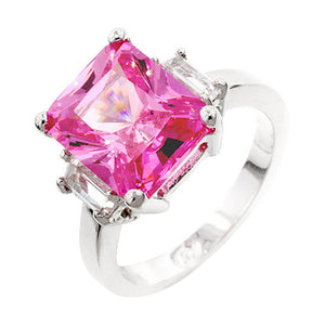 Pink Triplet Engagement Ring Size 8