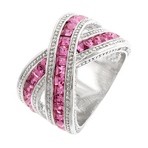 Twisting Pink Band Size 10