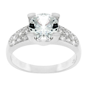 Classic Clear Engagement Ring Size 8
