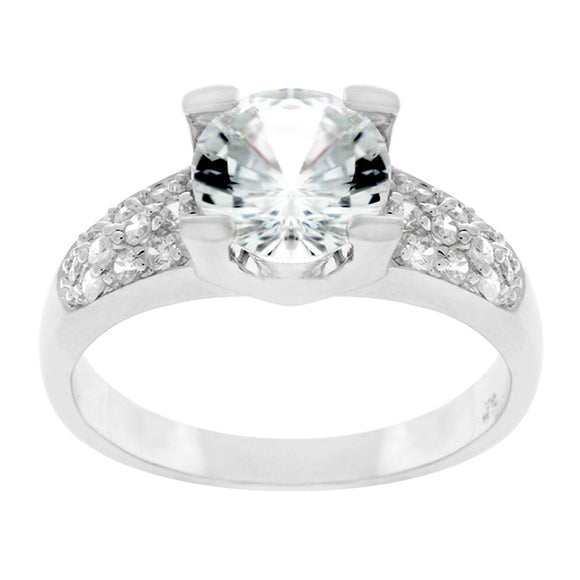 Classic Clear Engagement Ring Size 10