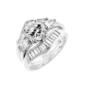 Two-Piece Engagement Ring Set Size 5