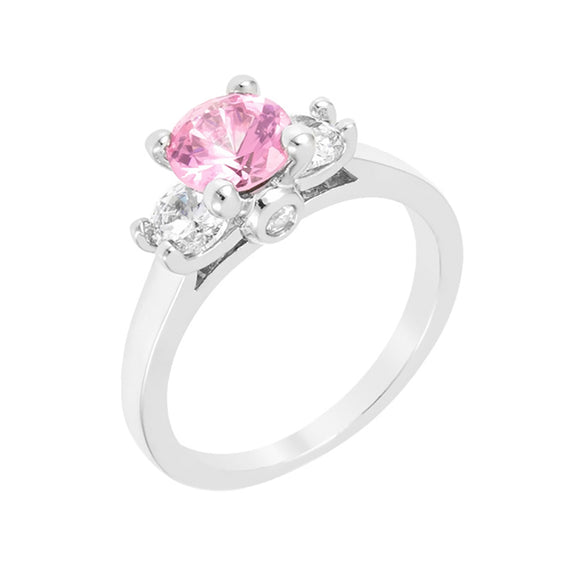 Mini Pink Ice Triplet Ring Size 9