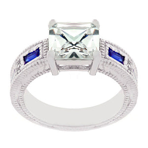 Prima Donna Sapphire Blue Cubic Zirconia Ring Size 7