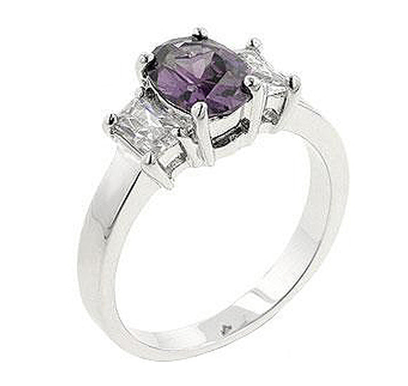 Lilac Engagement Ring Size 9