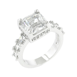 Asscher Cut Engagement Ring Size 7