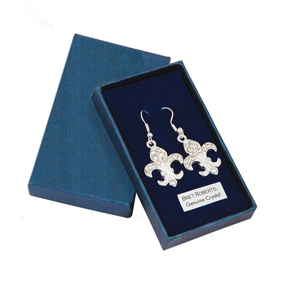 PremiumConnection Crystal Fleur De Lys Earrings