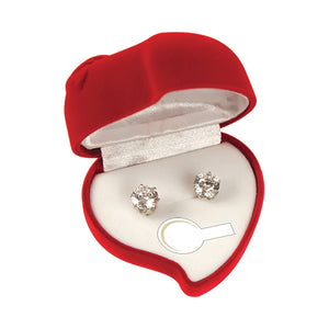 PremiumConnection Heart Shaped 2 Ct Cz Earrings