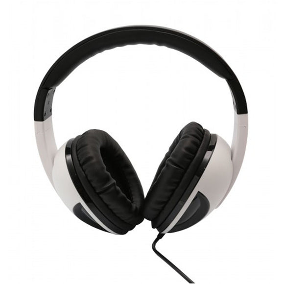 Oblanc COBRA200 with Massive 50mm Driver Audio Headphones and Invisible In-line Microphone WHITE