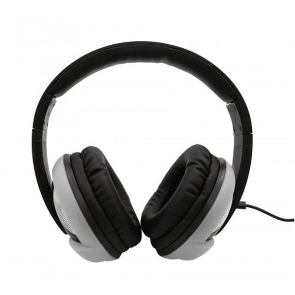 Oblanc UFO200 Around-Ear Audio Headphones with Invisible In-line Microphone SILVER