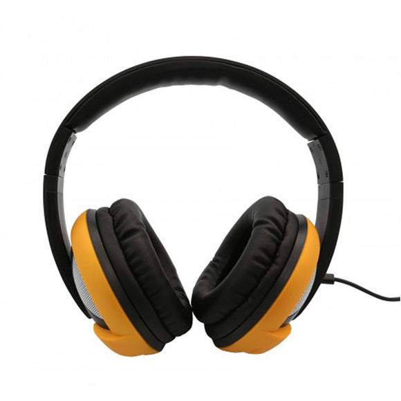 Oblanc UFO200 Around-Ear Audio Headphones with Invisible In-line Microphone YELLOW