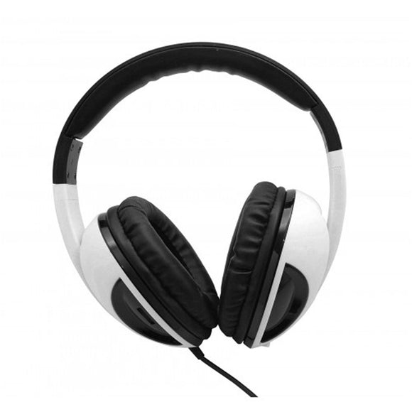 Oblanc COBRA210 Amplified Subwoofer 2.1 Stereo Headphones with Built-in Battery Improved Vocals Deeper Bass WHITE BLACK