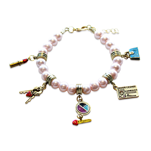 Teen Girl Charm Bracelet in Gold