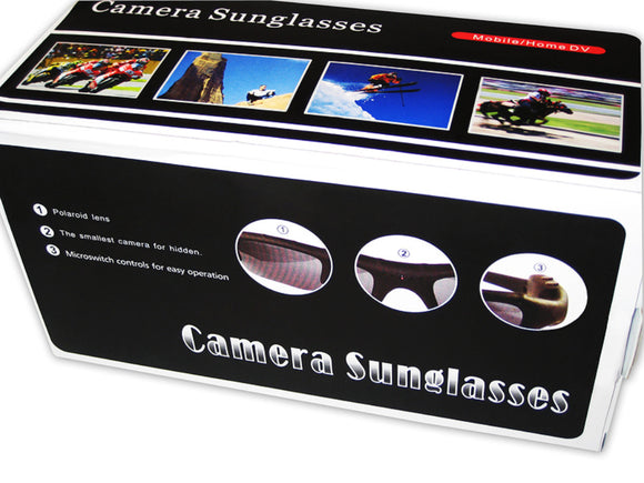 30 FPS Video Digital Sunglasses Video Audio Recorder w/ MicroSD Slot