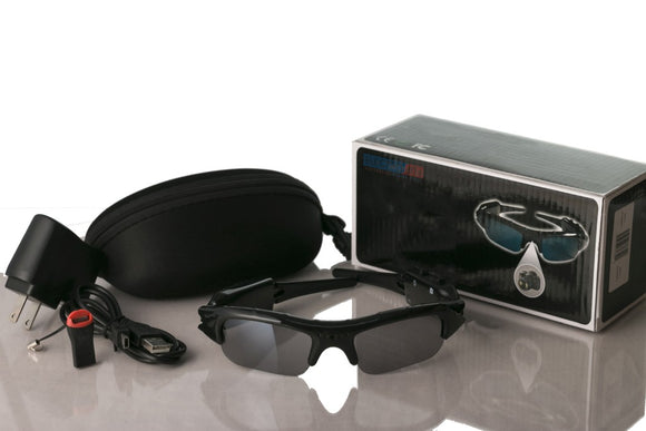 Concealable DVR Video Recorder Spy Sunglasses w/ 640 x 480 Video