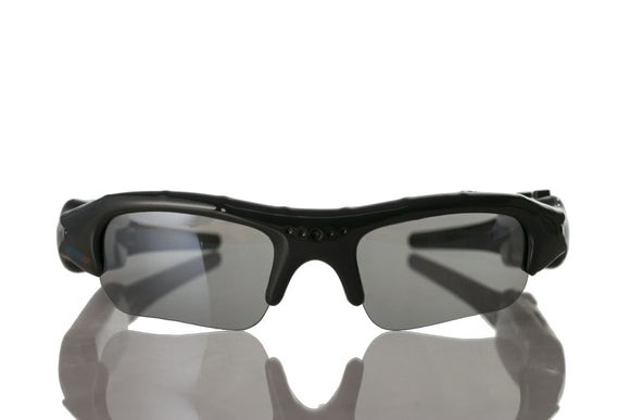 Video Audio Recording Sports Sunglasses w/ High Definition Optics