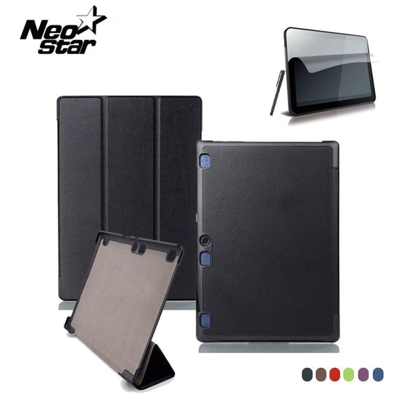 For Lenovo Tab 2 A10 70F Leather Case Cover For Tab2 A10-70 70 A10-70F A10-70L A10-30 X30F Tablet 10.1'' Screen Protector + Pen
