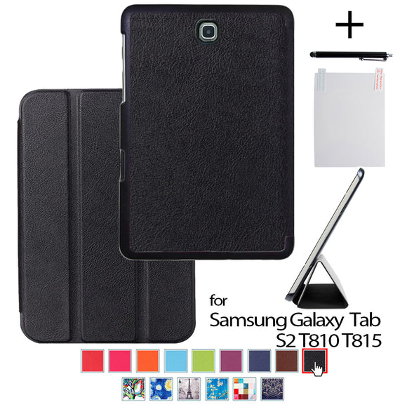 For galaxy Tab S2 9.7 Protective PU Leather cover case For samsung galaxy Tab S2 9.7 SM-T810 T815 9.7