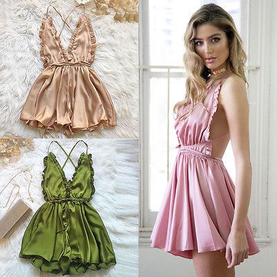 Fashion Women Sexy Sleepwear Style Jumpsuit Rompers Clubwear Playsuit Trousers 3 color