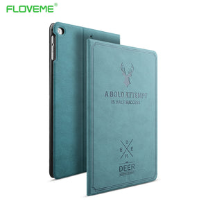 FLOVEME For Apple iPad Mini 1 2 3 4 Case Auto Sleep /Wake Up Flip PU Leather Cover For iPad Air Smart Stand Holder Folio Case