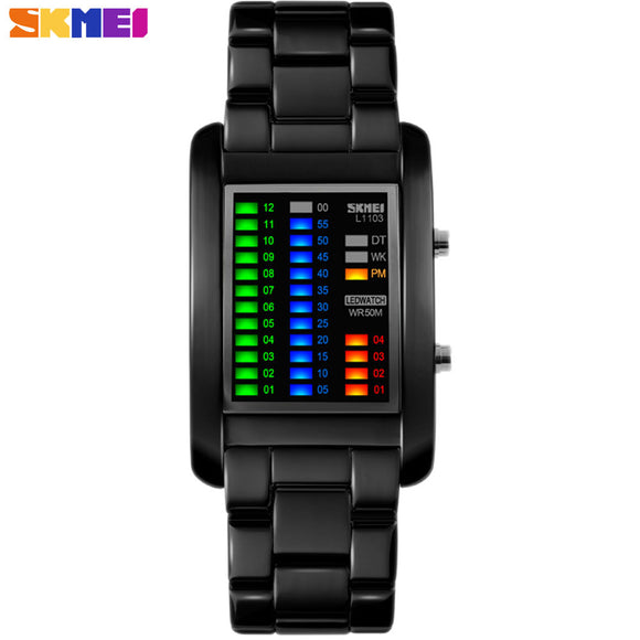 2016 New Popular Brand Men Luxury Creative Watches Digital LED Display Fashion Luxury Wrist Watches Quality Clock Diagram SKMEI