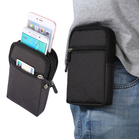 Cowboy Cloth Phone Pouch Belt Clip Bag for Samsung J5 2016/ J7/J5/J3/J1 Case with Pen Holder Waist Bag Outdoor Sport Phone Cover