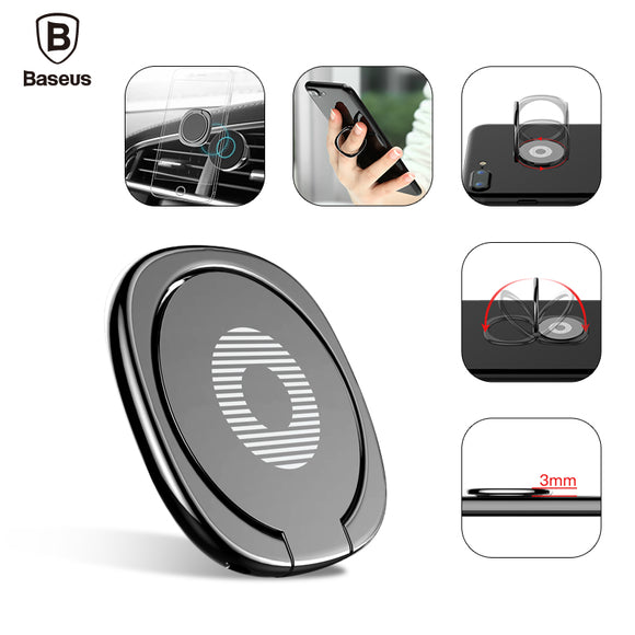 Baseus Universal Mobile Phone Stand 360 Finger Ring Desk Stand Holder Fit For Magnetic Car Bracket Luxury Phone Holder Stand