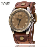 CCQ Brand Vintage Reloj Hombre Cow Leather Men WristWatch Casual Luxury Roman Number Analog Quartz Watch Relogio Masculino C20