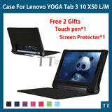 Case for Lenovo yoga tablet 3 10.1 X50L X50M X50f PU Leather stand Case for Lenovo yoga tab 3 10.1 YT3-X50l/m/f+free 2 gifts