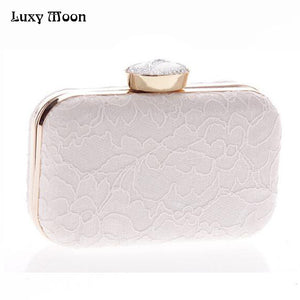 New Bridal Purse Clutches Women Fashion Grace Day clutches Messenger Bag Lace Day Clutch Fashion Wedding Party Dinner Clutches