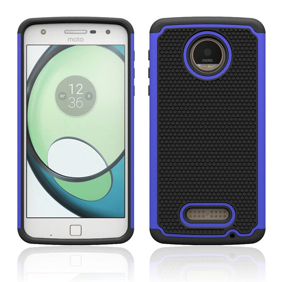 Hybrid Armor Cases With Screen Protector +Stylus Shockproof Silicone Hard Phone Cover For Motorola Moto Z Play Droid @